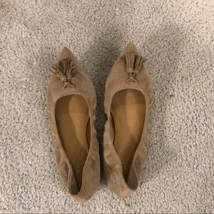J. Crew Suede Tan/Nude Flats Size 7